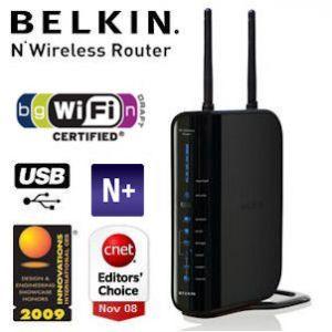 Belkin F5D8235nv4 Kabelloser N+ Router mit USB-Anschluss für 49€ statt 89€