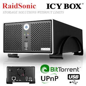 RaidSonic Icy Box IB-Nas4220-B Gigabit zweifach RAID NAS 99euro