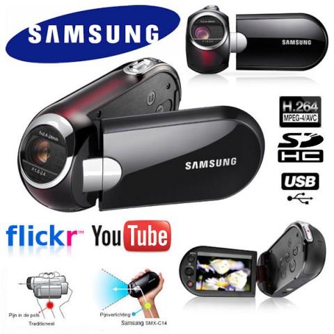 Samsung SMX-C14 H.264 SD-Hybrid-Camcorder mit 10fach optischem Zoom